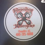 Oval Independent Motorcycles Sticker