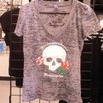 Ladies Skull V-Neck