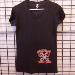 Ladies Black V-Neck